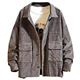 Oversize Kordjacke Herren Warmer Wintermantel Inawayls Herren Jacket Locker Lässig Outwear Herbst