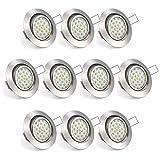 Uchrolls 10er Set Flach LED Einbaustrahler Schwenkbar, 4W 450LM, Warmweiß, Nur 22mm Einbautiefe...