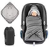 Zamboo Einschlagdecke für Babyschale und Kinderwagen - praktische Alternative zum Baby...