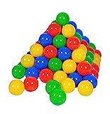 Knorrtoys 56789 - 100 Bälle in knalligem Blau, Rot, Gelb und Grün ohne gefährliche Weichmacher -...
