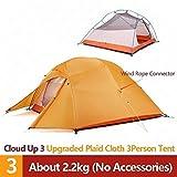 RuiPingRuiLaias Strandzelt Upgrade 1 2 3 Personen Ultra 20D Silikon-Double-Layer-Camping-Zelt mit...
