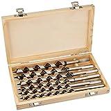 DWT-GERMANY 100063 6 Tlg Set 230mm 6-20mm Schlangenbohrer Holzbohrer Holzschlangenbohrer Set Holz