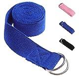 Scott John Yoga-Gurt mit D-Ring-Schnalle, Yoga-Gurt für Haltungen, verbessert Flexibilität und...