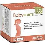 BabyFORTE® Kinderwunsch Vitamine OHNE JOD - 180 Kapseln - Vegan - 15 Nährstoffe + Folsäure 800...
