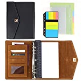 SynLiZy A5 PU Leder Terminkalender Personal Organizer Planer Notizbuch Set mit 12 Zubehör