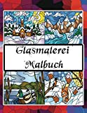 Glasmalerei Malbuch: Entwürfe von Tieren, Landschaft, Blumen.