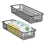 mDesign 2er-Set Allzweckkorb – flexibler Aufbewahrungskorb aus Metalldraht – kompakter, robuster...