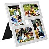 SONGMICS Bilderrahmen Collage für 4 Fotos, 10 x 15 cm, Wandmontage Fotogalerie Display, mit...