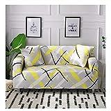 wjwzl European Creative Line Sofabezug, Polyesterfaser, Bedruckt, Stretch-Schutzbezug, passend für...