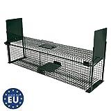 Moorland Safe 5007 extra groe Lebendfalle 100x25x25 cm als Marder-Falle, Katzen-Falle, Fuchs-Falle...