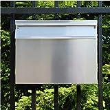 GRO Zaunbriefkasten einbau Briefkasten postkasten DIN C4 Edelstahl (V2A)