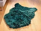 """Kunstfell """"Tannengrün"""" in grün, 60x90 cm, Dekofell, Hochflor Imitat, Teppich, Sitzauflage,..."""