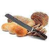Brotmesser Küche Brotmesser gezahnt Design-Laser Damaskus Edelstahl-Blatt-Chef Messer Brot, Käse,...