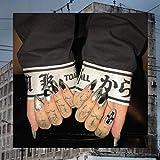 DCJ® Punk-Stil Silber und Schwarz treffen einfarbige falsche Nägel 24 mittelgroße Posaunendamen...