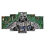 Yajun Wand Kunst 5 Teilig Kunstwerk Leinwand Bilder Interne Komponentenstruktur des Roboters Poster...