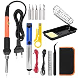 Lötkolben-Kit, 15-teiliges 60-W-Elektro-Lötkolben-Set Orange Schweißwerkzeug-Kit mit...