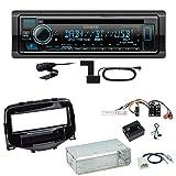 Kenwood KDC-BT740DAB Digitalradio CD DAB+ MP3 USB FLAC Bluetooth AUX WMA WAV Einbauset kompatibel...