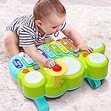 Ohuhu Babyspielzeug Klavier und Trommel Musikspielzeug fr Baby und Kleinkinder, Spielen...