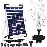 AIMTOP Solar Springbrunnen, 2020 Neue Solar Teichpumpe mit 5W Solar Panel, Solar Wasserpumpe Set...