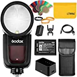 Godox V1S V1-S 76Ws 2.4G Fresnel Zoom Wireless TTL Rundkopf Kamera Blitz Blitzgerät Kompatibel für...