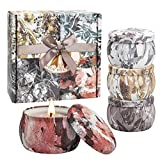 Duftkerzen, Aromatherapiekerzen-Kit Geschenkset im 4er-Pack, rauchfreie Kerzen aus Freesia,...