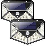 Solarlampen für Außen,【270 ° Vierseitige Beleuchtung- 2200mAh】iPosible 100 LED Solarleuchte...