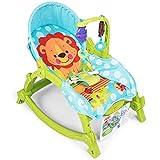 K99 Infant-to-Kleinkind-Rocker, Multifunktions Folding Babywippe Stuhl und Rocker mit Musik und...