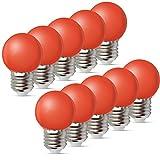 10per-pack Farbige Leuchtmittel LED 1W E27 G45 Birne Beleuchtung Glühbirne Leuchtmittel für...