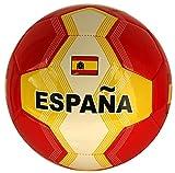 Fußball Spanien mit spanischer Flagge, Größe 5, Farbe Gelb/Rot