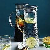 ANXI 1600ml Glasflasche mit Handgriff große Kapazitäts-Tropffreie Karaffe for warm/kalt...