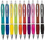 Libetui 10-er Pack Kugelschreiber rutschfeste Griffzone Großraumine in trendigen 10 Farben...