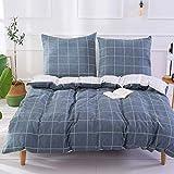 Unimall Bettwäsche 155x220cm aus Baumwolle für Sommer Renforce Bettbezug mit Reißverschluss...
