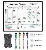 MRLY Home - Magnetischer Wochenplaner - Whiteboard Wochenkalender für den Kühlschrank -...