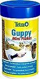 Tetra Guppy Mini Flakes, ausgewogenes, nährstoffreiches Flockenfutter für Guppies, verschiedene...