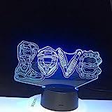 Brother Luigi Dragon 3D Licht USB Acryl Geschenk für Kinder Schlaf Licht Kinderzimmer Licht...