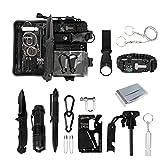 Homealexa Survival Kit 15 in 1, Außen Notfall Survival Kit, Rettungshilfe Selbsthilfe Survival Kit...