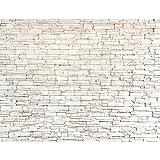 Fototapete Steinwand 3D Effekt 352 x 250 cm Vlies Tapeten Wandtapete XXL Moderne Wanddeko Wohnzimmer...