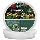 Kinkaivy Universal Blumentopf Untersetzer Rund, 6er Pack Blumentopfuntersetzer, Indoor-haltbare...