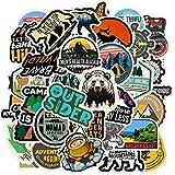 Gemischte Camping Reiseaufkleber Laptop Koffer Skateboard Gitarre Doodle Landschaft Spielzeug...