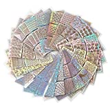 288 Stück Nagelaufkleber Vinyls Nail Art Maniküre Schablone DIY Nagel aufkleber , 24 Blatt, 72...