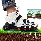 Rasenbelüfter-Schuhe, Garten, verstellbare Riemen, lange Spikes, Vertikutierer-Schuhe für Hofgras
