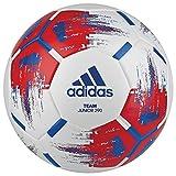 adidas Jungen Team J290 Turnierbälle für Fußball, White/red/Blue/Silver met, 5