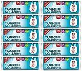 200 Müllbeutel/Mülltüten mit Tragegriff, 50 Liter, 20 Stück pro Rolle, Reißfest &...