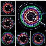 ASUD Fahrrad Speichenlicht Led Bicycle Spoke Light Mehrfarbig mit Batterie Fahrradlicht superhell...