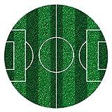 Dekora - 231359 Fußball Tortenaufleger aus zuckerfreiem Esspapier - 16 cm