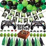 Tacobear Spiel Party Deko Videospiel Party Zubehör Set mit Happy Birthday Banner Girlande Quasten...