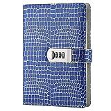 Retro PU Leather Book Diary Notepad Storage Box (Krokodildruck), A5 Notebook Short Notebook mit...