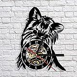 Tierwanduhr modernes Design niedlichen Hund Schallplatte Wanduhr klassische Uhr 3D-Dekoration...