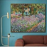 N\C Künstlergarten von Monet Blumen Leinwand Malerei Kalligraphie Poster Drucke Wohnzimmer...