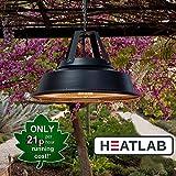 Heatlab 1.500 Watt IPX4 Vintage-Stil Infrarot-Heizstrahler (Halogen) Terrassenheizung, Deckenmontage